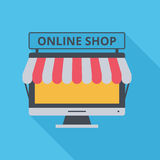 Icon Online Shop Stock Images