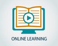 Icon online study Stock Photography