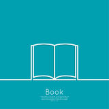 Icon of an open book Stock Photo