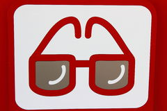 Icon optometrist. Icon on a white background points, meaning optometrist Royalty Free Stock Photos