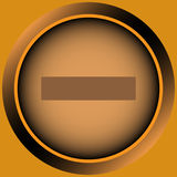 Icon orange minus Royalty Free Stock Image