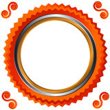 Icon in orange style Stock Image