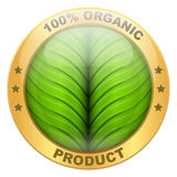 Icon of organic for food or drinks Royalty Free Stock Image
