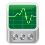 Icon for oscilloscope. White background. Vector saved as eps-10, file contains objects with transparency Royalty Free Stock Images