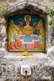 Icon over the holy source in Kotor, Montenegro Stock Images