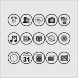 Icon Pack (BW) Stock Photo
