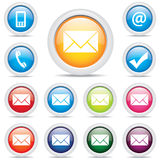 Icon pack mail set symbol vector Royalty Free Stock Photos