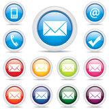 Icon pack mail set symbol vector Stock Photography