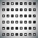 Black and white universal icon bundle Stock Photo