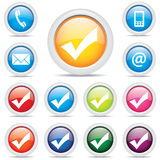 Icon pack set symbol vector Royalty Free Stock Images