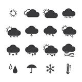Icon pack weather isolated background Royalty Free Stock Images