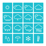Icon pack weather isolated background Stock Photography