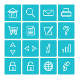 Icon pack web and internet isolated Stock Photo