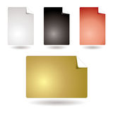 Icon page Royalty Free Stock Photography