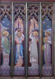 Icon painted in Ely Cathedral Royalty Free Stock Photography