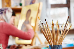 Icon painting concept Stock Photo