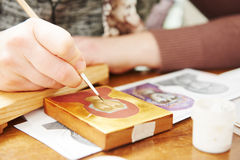 Icon painting Royalty Free Stock Photography