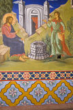 Icon paintings in monastery interior Stock Photography