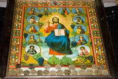 Icon paintings in monastery interior Royalty Free Stock Photo