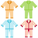 Icon pajamas. Flat design, illustration stock illustration