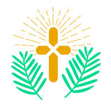 Icon palm Sunday Royalty Free Stock Images