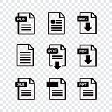 Icon paper file. File Icons. Document icon set Stock Photography