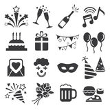 Icon party celebrate. Vector icon set party celebrate Royalty Free Stock Photography