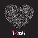 Icon of pasta Royalty Free Stock Images