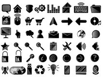 Icon pc black Royalty Free Stock Image