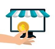 icon pc buy online design Stock Photos