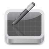 Icon for pen tablet Stock Photos