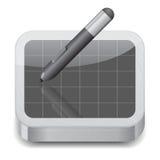 Icon for pen tablet Stock Photos