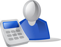 Icon People & Calculator Royalty Free Stock Photo