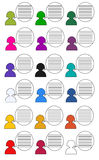 Icon People in colors metro design. Raster. Royalty Free Stock Photos