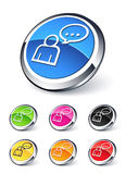 Icon people speaking Royalty Free Stock Images