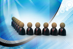Icon of peoples in business suit Stock Image