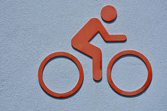 Icon of a person rids a bicycle Royalty Free Stock Photos