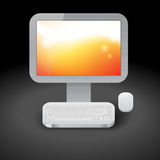 Icon for personal computer Royalty Free Stock Image