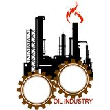 Icon petroleum refining industry Stock Photography