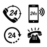 Icon Phone 24 hours Operator Service Simple Telephone Communication Vector illustration. Design Stock Images