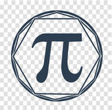 Icon  Pi day black Stock Image