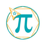 Icon  Pi day Stock Photography