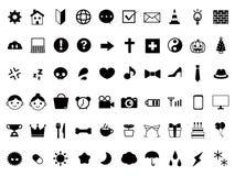 Icon pictogram set stock illustration
