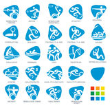 Icon Pictograms Set 5 Vector Illustration Royalty Free Stock Images