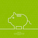 Icon Pig piggy bank. Symbol of conservation and enhancement funds stock illustration