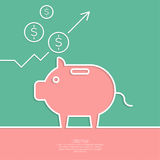 Icon Pig piggy bank Royalty Free Stock Image