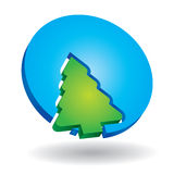 Icon with pine tree Stock Photos