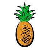 Icon of pineapple Royalty Free Stock Photos