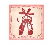 Icon with pink ballet shes in a frame royalty free illustration