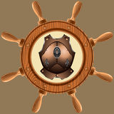 Icon pirate cuirass Royalty Free Stock Photos